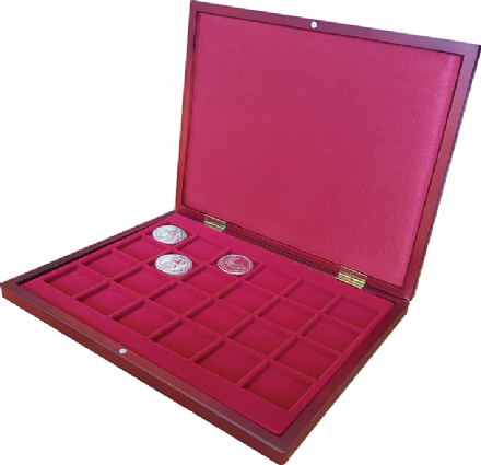 Wooden style Coin Display box